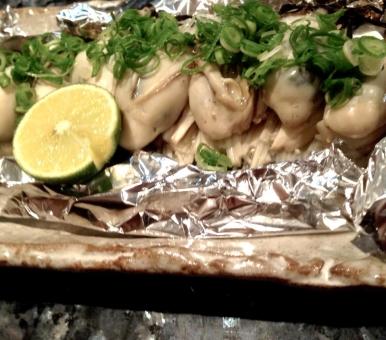 牡蠣のホイル焼き